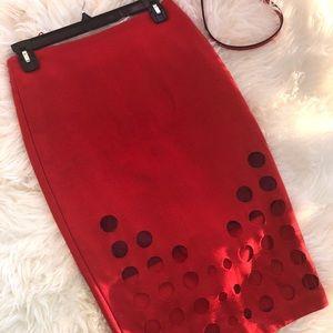 Stunning Coral Pencil Skirt